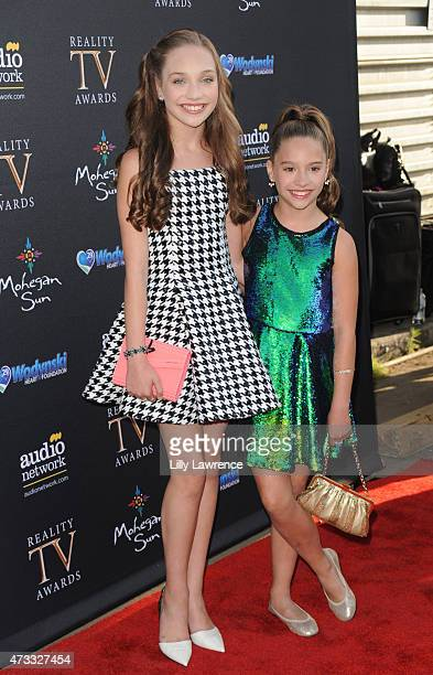 Dancers Maddie Ziegler and Mackenzie Ziegler attends the 3rd Annual Reality TV Awards at Avalon on May 13 2015 in Hollywood California