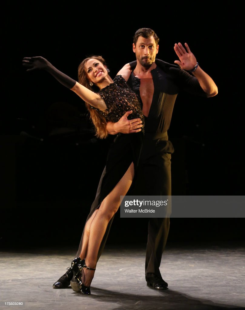 Dancers Maksim Chmerkovskiy and Karina Smirnoff performs 'Forever Tango' Press Preview at Walter Kerr Theatre on July 11, 2013 in New York City.