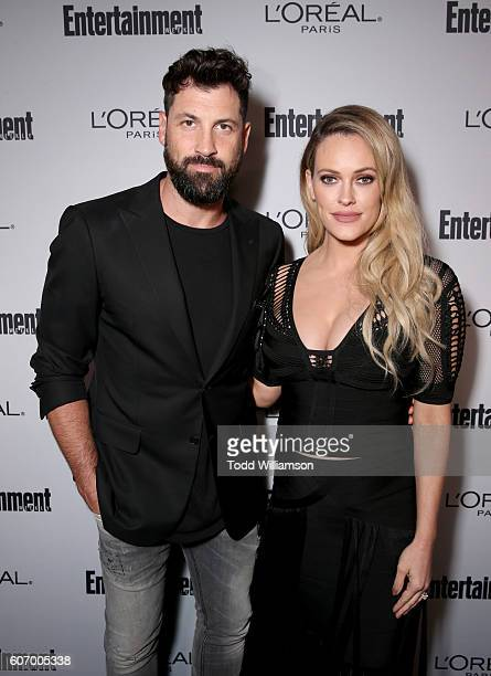 Dancers Maksim Chmerkovskiy and Peta Murgatroyd attend the 2016 Entertainment Weekly PreEmmy party at Nightingale Plaza on September 16 2016 in Los...