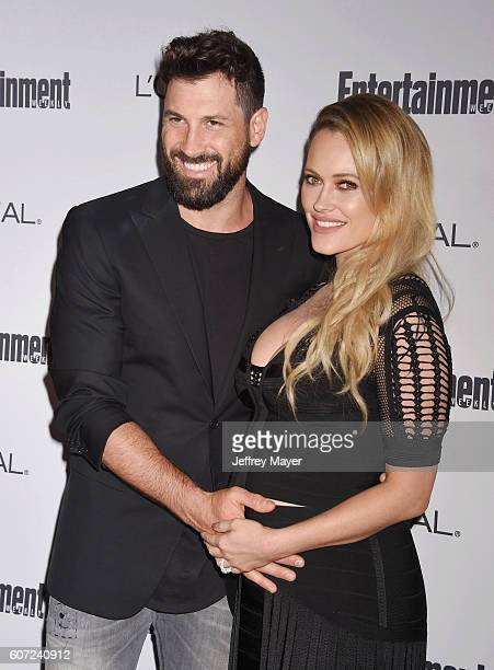 Dancers Maksim Chmerkovskiy and Peta Murgatroyd attend the Entertainment Weekly's 2016 PreEmmy Party held at Nightingale Plaza on September 16 2016...