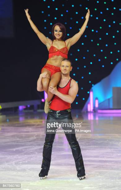 Dancers Matthew Wolfenden and Nina Ulanova during a photocall ahead of the Dancing on Ice Live Tour 2012 at the Metro Radio Arena Newcastle