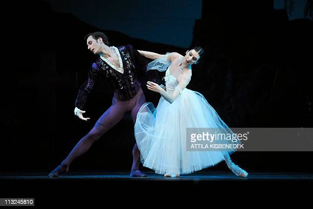 Dancers of Hungarian National Ballet perform on the stage of the State Opera House in Budapest on April 28 2011 during a dress rehearsal of Adolphe...