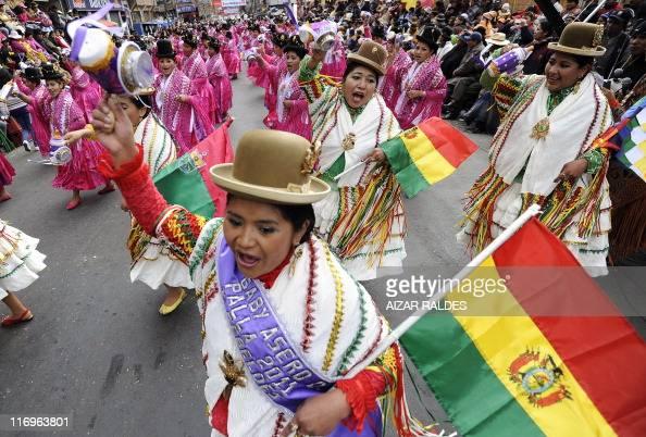 Dancers of Morenada fraternity perform during the start of the Senor Jesus del Gran Poder celebration on June 18 2011 in La Paz About 20000...