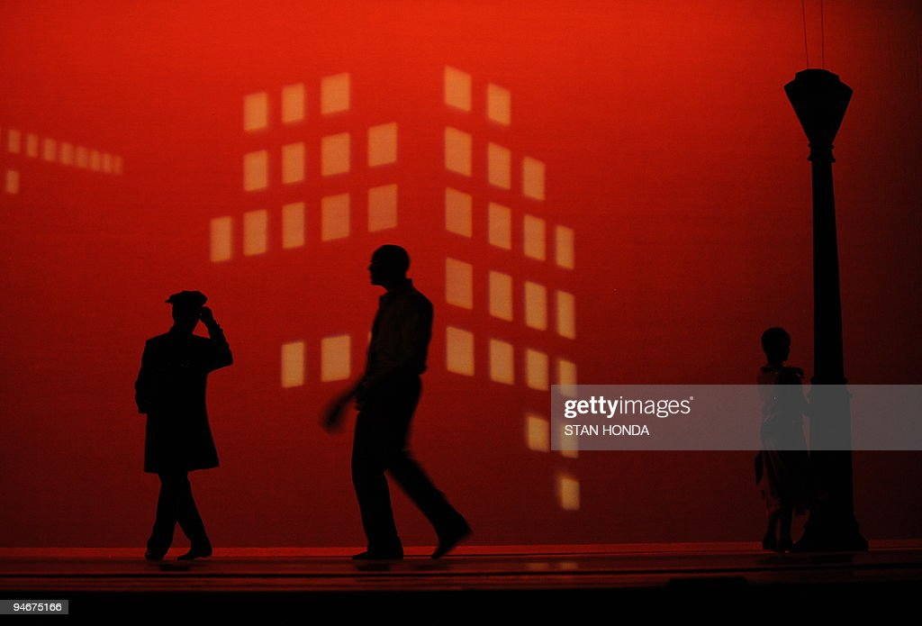 Dancers of the Alvin Ailey American Dance Theater during dress rehearsal of 'Uptown', chorographed by Matthew Rushing, December 9, 2009 in New York. The performance highlights key events of the Harlem Renaissance era in the 1920's. AFP PHOTO/Stan Honda