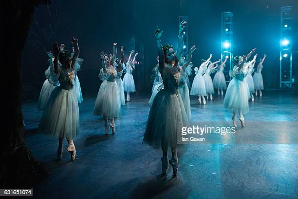Dancers of the English National Ballet perform 'Giselle' on stage at the Coliseum on January 13 2017 in London England