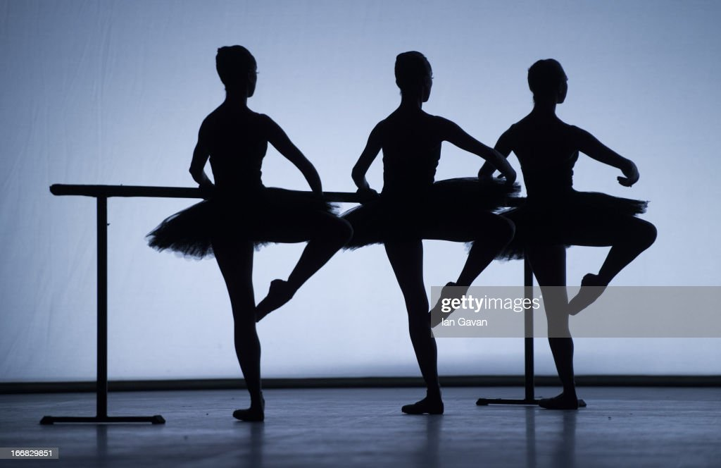 Dancers of the English National Ballet perform on stage during a dress rehearsal of 'Ecstasy and Death' at the Coliseum on April 17, 2013 in London, England.