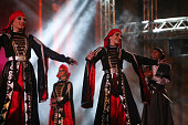 Dancers of the JordanianCircassian club Al Ahli perform a Circassian dance a major component of the Circassian culture at the main amphitheatre...