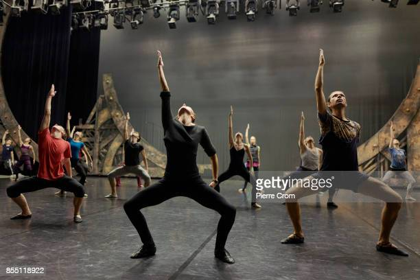 Dancers of the National Academic Bolshoi Opera and Ballet Theater of the Republic of Belarus are rehearsing under the direction of Russian...