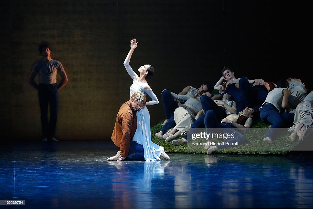 Dancers perform at Le Chant De La Terre AROP Charity Gala at Opera Garnier on March 4, 2015 in Paris, France.