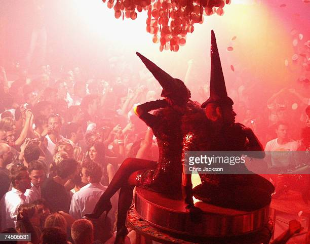 Dancers perform at Pacha nightclub in Eivissa town on June 7 2007 in Spain Ibiza Ibiza remains one of the world's top holiday destinations for young...