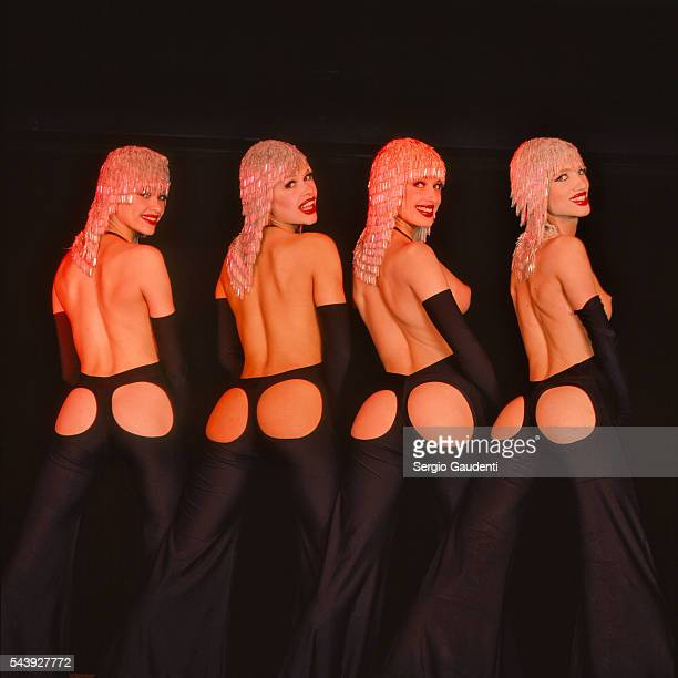 Dancers perform at the Crazy Horse music hall in Paris