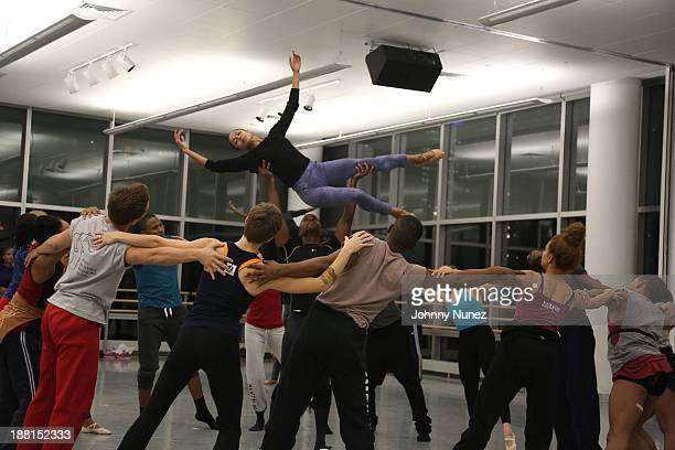 Dancers perform at the Ellington Program rehearsals at the Alvin Ailey American Dance Theater on November 15 2013 in New York City