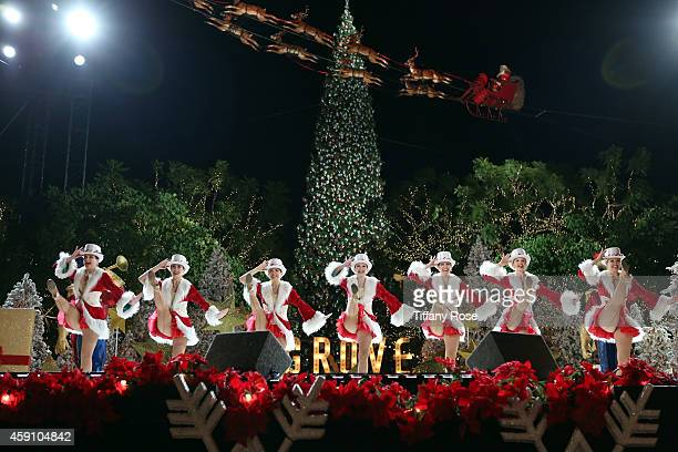 Dancers perform at The Grove's 12th Annual Christmas Tree Lighting Spectacular Presented By Citi at The Grove on November 16 2014 in Los Angeles...