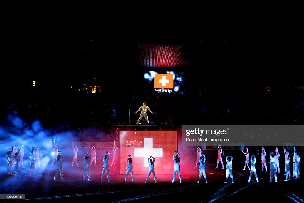 Dancers perform at the opening ceremony during day one of the 22nd European Athletics Championships at Stadium Letzigrund on August 12, 2014 in Zurich, Switzerland.