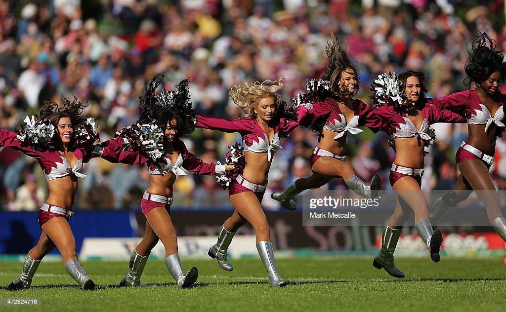 Dancers perform before the round nine NRL match between the Manly Sea Eagles and the Newcastle Knights at Brookvale Oval on May 10, 2015 in Sydney, Australia.