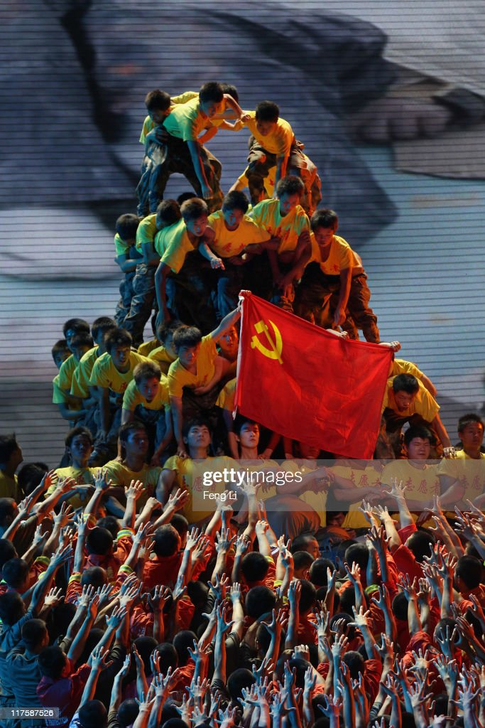 Dancers perform during a gala show to celebrate the 90th anniversary of the founding of the Communist Party of China (CPC) in the Great Hall of the People on June 28, 2011 in Beijing, China. This year's celebrations will mark the 90th anniversary of the founding of the CPC.