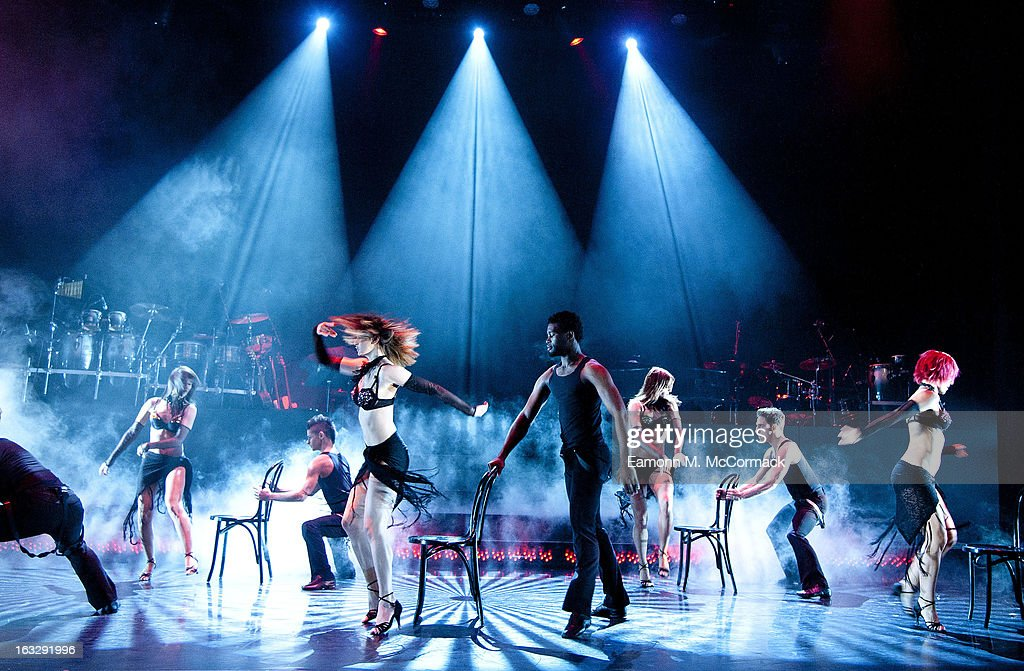 Dancers perform during a photocall for 'Burn The Floor' at Shaftesbury Theatre on March 7, 2013 in London, England.