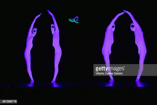 Dancers perform during Alberto Premi Show as a part of Pitti Immagine Uomo 87 on January 15 2015 in Florence Italy