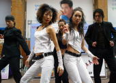 Dancers perform during an AIDS awareness campaign on November 30 2004 in Seoul South Korea More than 2500 people in South Korea have become infected...