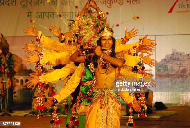 Dancers perform during Surajkund Crafts Mela organised at Surajkund in Faridabad The 15day annual event which is observing its silverjubilee edition...