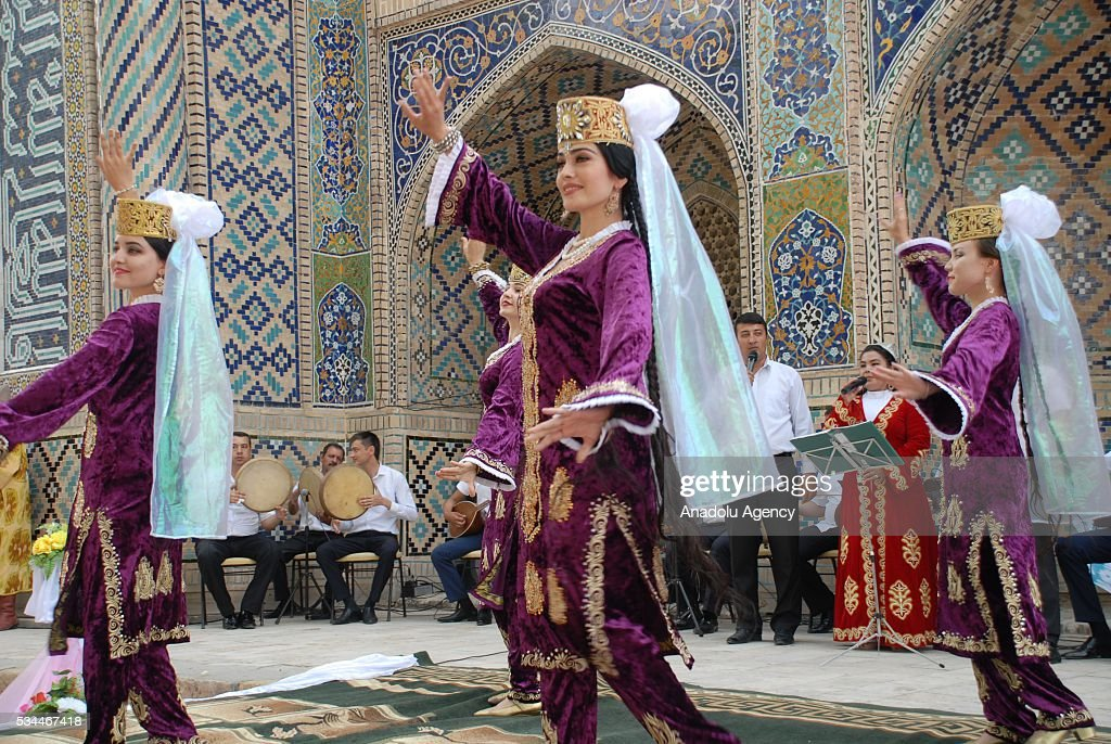 Dancers perform during the 15th Silk and Spices Festival in Bukhara, Uzbekistan on May 26, 2016.