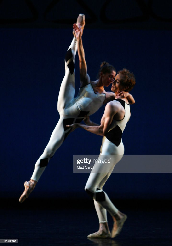 Dancers perform during the dress rehersal for Commedia performed by Morphoses/The Wheeldon Company at Sadler's Wells on September 24 2008 in London...