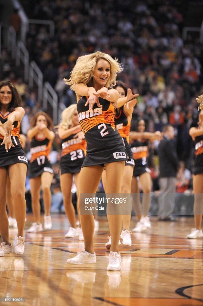 Dancers perform during the game between the Los Angeles Lakers and the Phoenix Suns at US Airways Center on January 30, 2013 in Phoenix, Arizona.