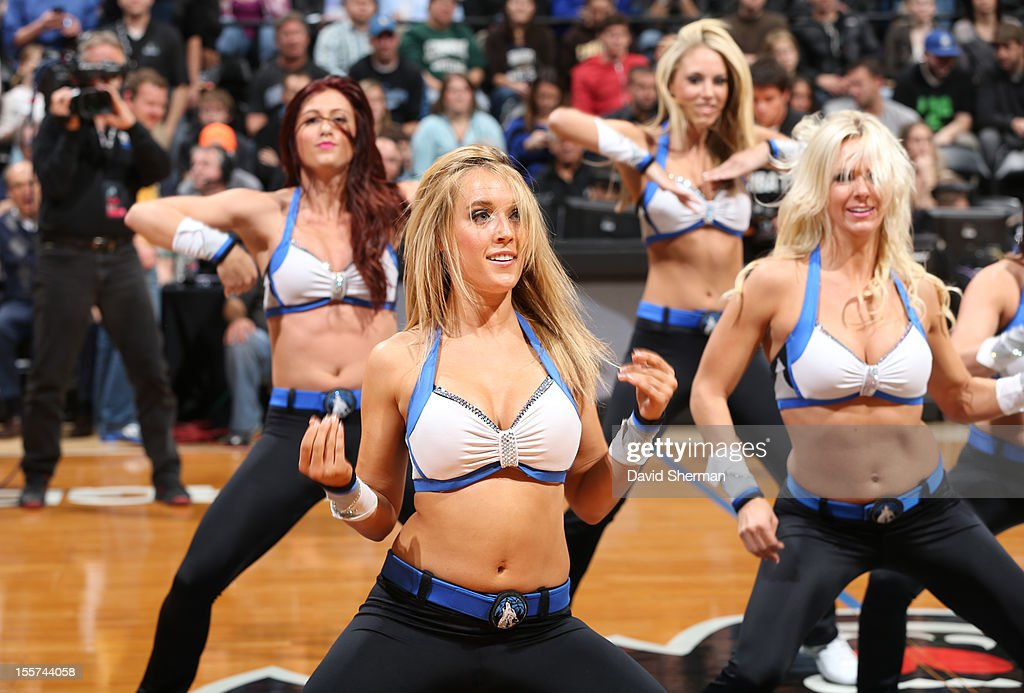 Dancers perform during the game between the Minnesota Timberwolves and the Orlando Magic on November 7, 2012 at Target Center in Minneapolis, Minnesota.