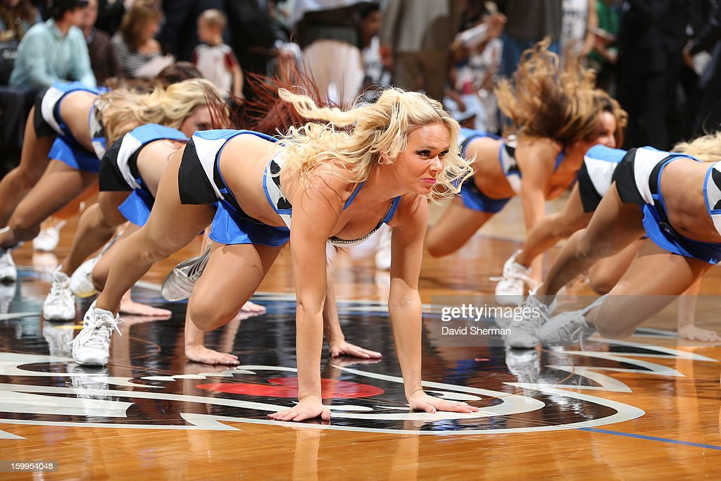 Dancers perform during the game between the Minnesota Timberwolves and the Brooklyn Nets on January 23, 2013 at Target Center in Minneapolis, Minnesota.