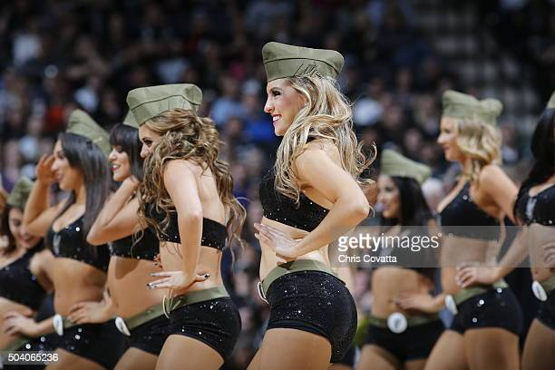 Dancers perform during the game between the New York Knicks and San Antonio Spurs on December 8 2016 at the ATT Center in San Antonio Texas NOTE TO...