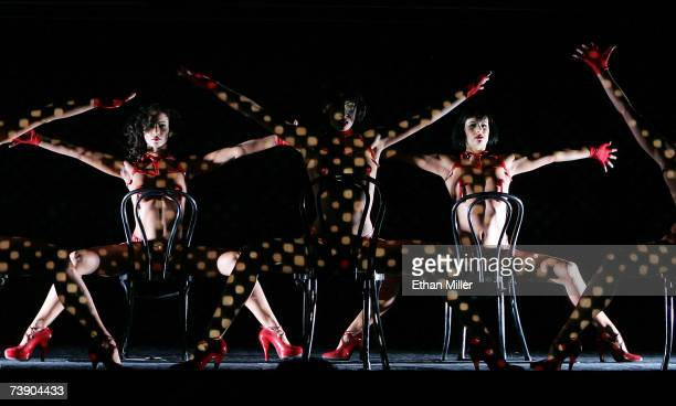 Dancers perform during the MGM Grand's Crazy Horse Paris show April 16 2007 in Las Vegas Nevada