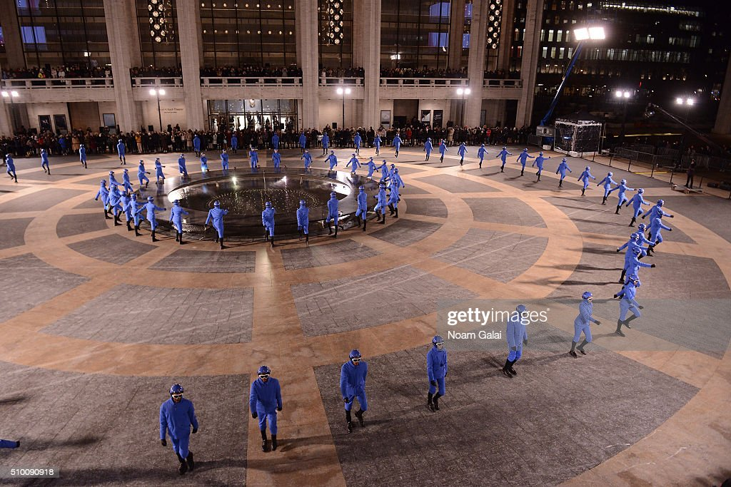Dancers perform during the Moncler Grenoble FW 16-17 presentation during New York Fashion Week at Lincoln Center on February 13, 2016 in New York City.