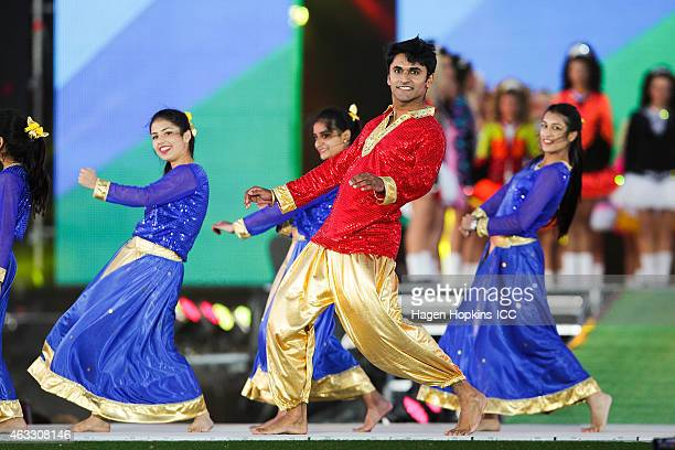 Dancers perform during the Opening Ceremony ahead of the ICC 2015 Cricket World Cup at Hagley Park on February 12 2015 in Christchurch New Zealand