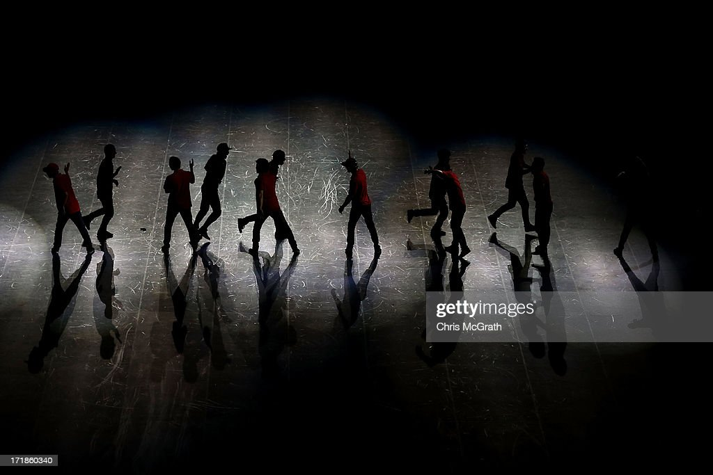 Dancers perform during the opening ceremony at Incheon Samsan World Gymansium on day one of the 4th Asian Indoor & Martial Arts Games on June 29, 2013 in Incheon, South Korea.