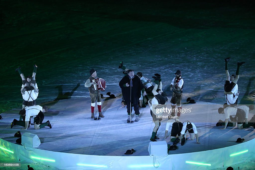 Dancers perform during the opening ceremony for the Alpine FIS Ski World Championships on February 04, 2013 in Schladming, Austria.