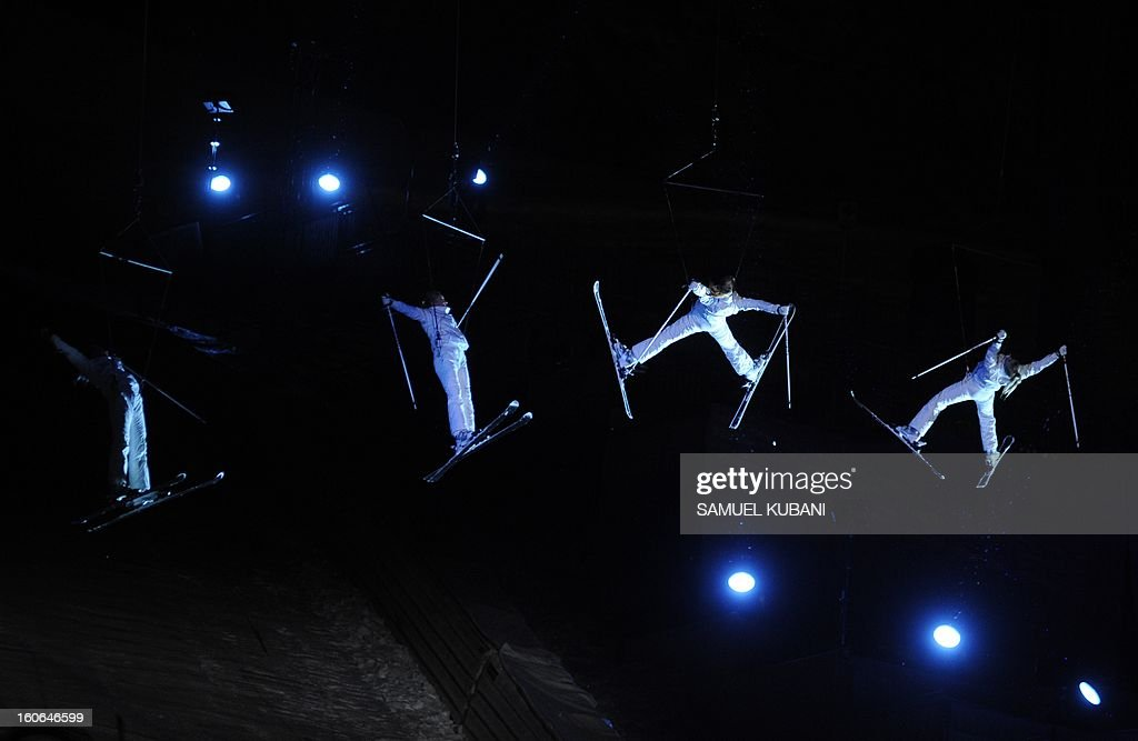 Dancers perform during the opening ceremony of the FIS World Ski Championships on February 4, 2013 in Schladming.