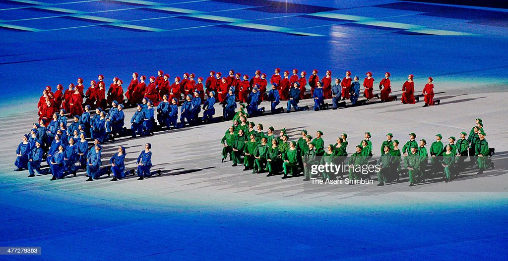 Dancers perform during the Opening Ceremony of the Sochi 2014 Paralympic Winter Games at Fisht Stadium on March 7, 2014 in Sochi, Russia.