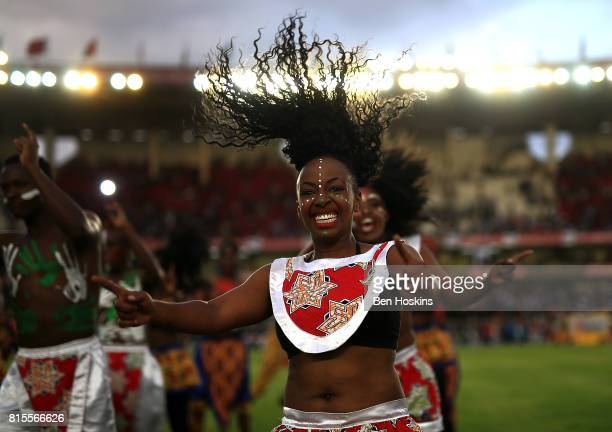 Dancers perform during the opening ceremony on day five of the IAAF U18 World Championships at The Kasarani Stadium on July 16 2017 in Nairobi Kenya