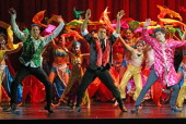 Dancers perform on stage during the Indian Film Festival of Melbourne Awards at Princess Theatre on May 2 2014 in Melbourne Australia