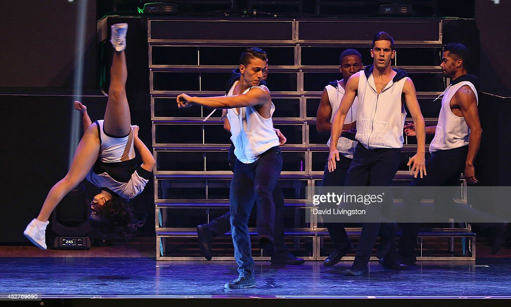 Dancers perform on stage during the Move Live on Tour production at the Orpheum Theatre on July 26, 2014 in Los Angeles, California.