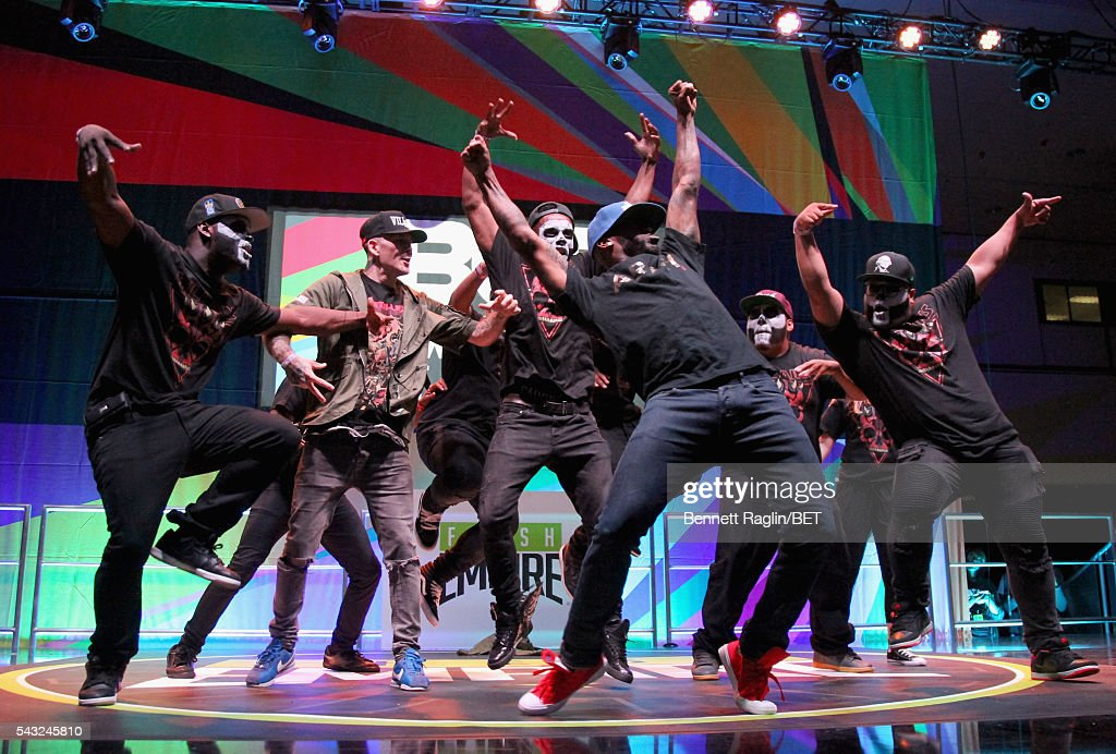 Dancers perform on the BETX stage during the 2016 BET Experience on June 26, 2016 in Los Angeles, California.