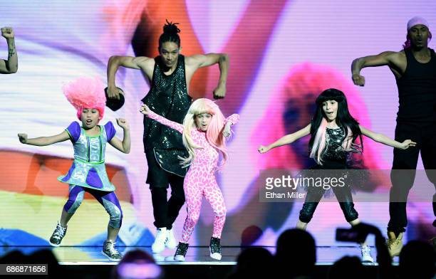 Dancers perform onstage during a performance by Nicki Minaj during the 2017 Billboard Music Awards at TMobile Arena on May 21 2017 in Las Vegas Nevada
