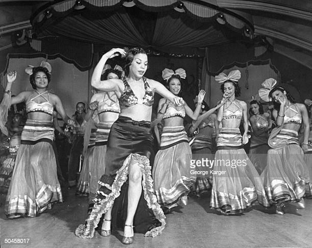 Dancers performing onstage at the Cotton Club