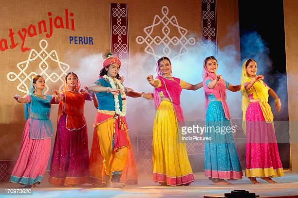 Dancers performing the classical Kathak Dance India