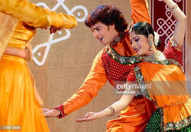 Dancers performing the Kathak Dance India