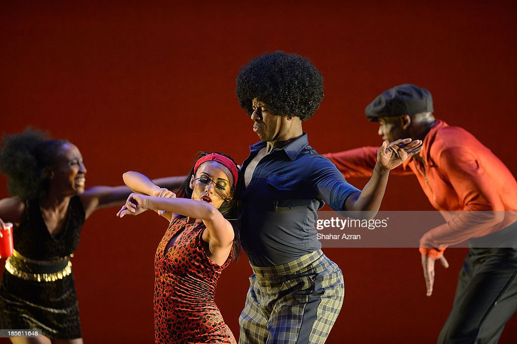 Dancers performs during the opening night of 'James Brown: Get On The Good Foot - A Celebration in Dance' at The Apollo Theater on October 22, 2013 in New York City.