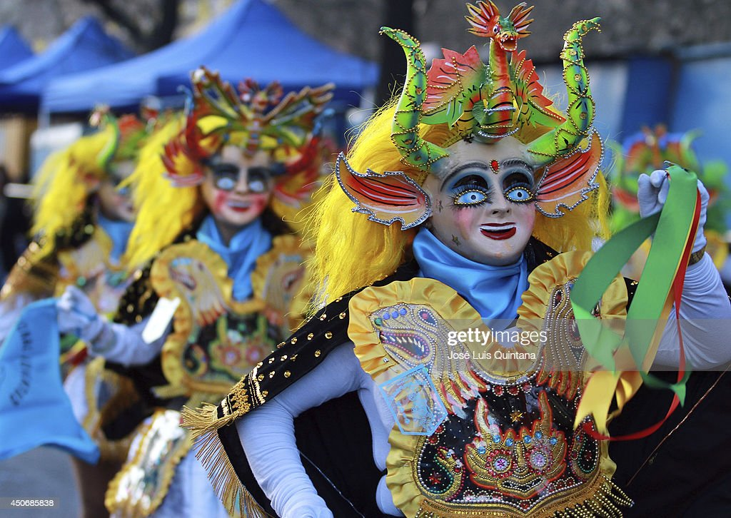 Dancers performs 'la diablada', a traditional dance of Bolivia during the religious festival of Jesus del Gran Poder on June 15, 2014 in La Paz, Bolivia. About thirty thousand people attended the event, which is a traditional folk celebration in the country.