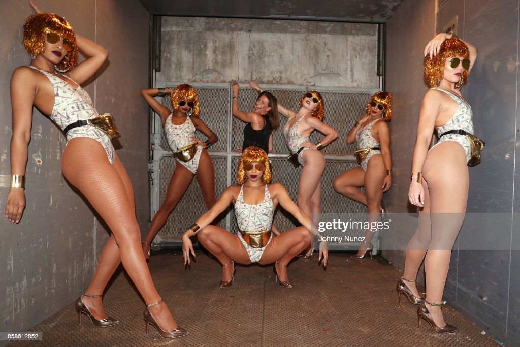Dancers pose backstage at the 2017 BET Hip Hop Awards on October 6, 2017 in Miami Beach, Florida.