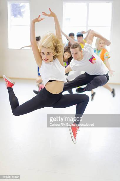 Dancers practicing in studio