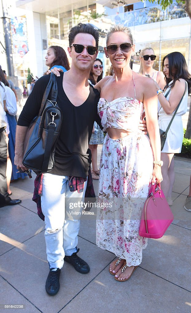 Dancers Sasha Farber and Kym Johnson attend The Grove Hosts Dancing With The Stars Dance Lab With pros Val Chmerkovskiy Whitney Carson and Sharna...